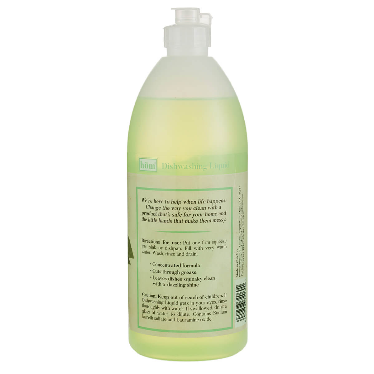 Dishwashing Liquid Green Tea Back
