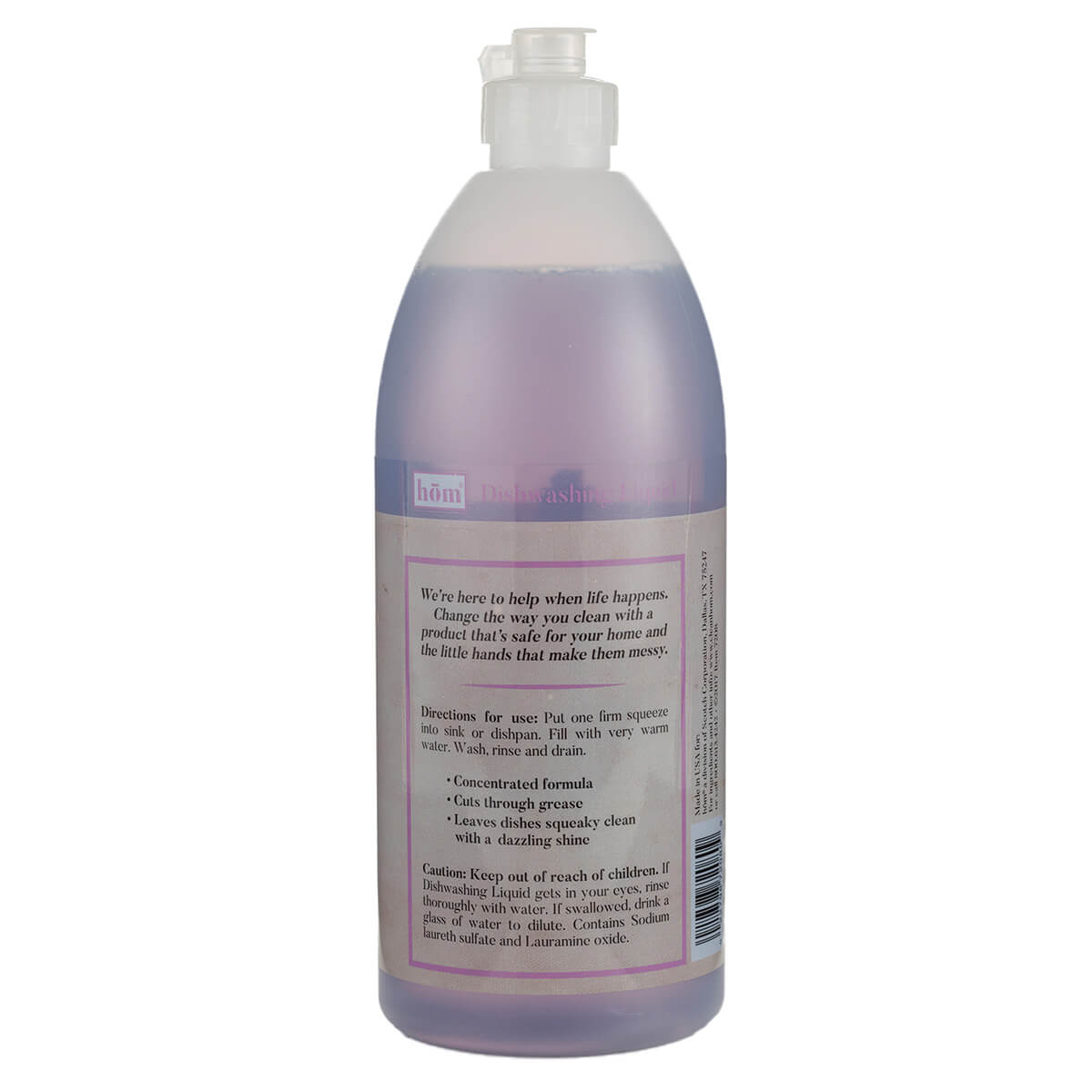 Dishwashing Liquid Lavender Vanilla Back