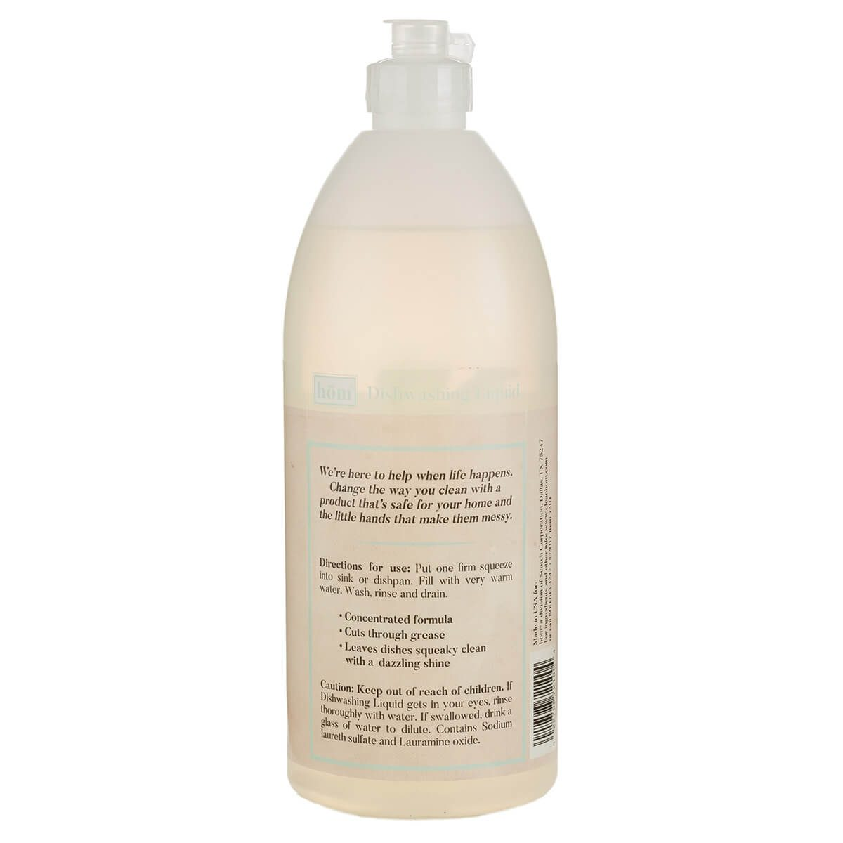 Dishwashing Liquid Scent Free Back