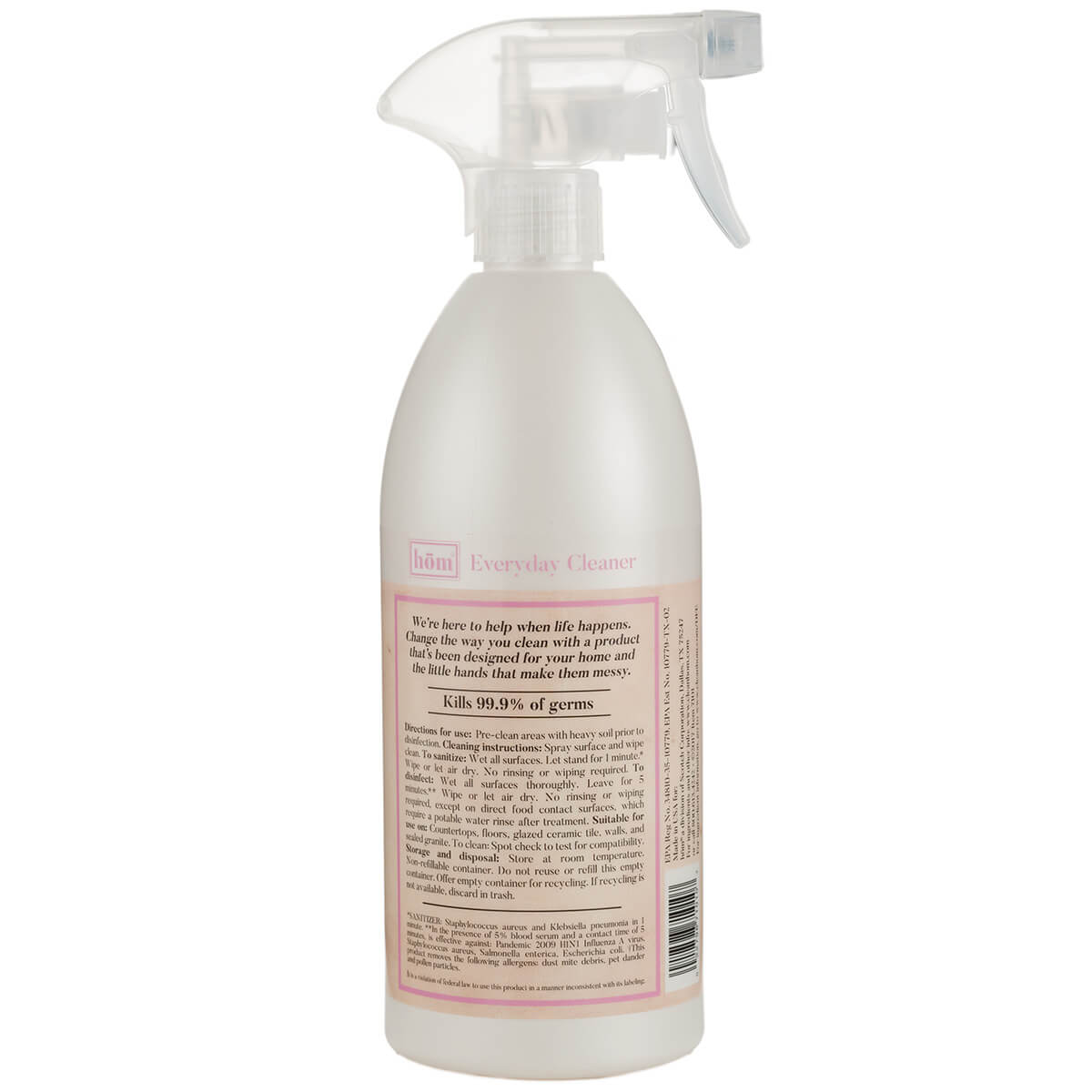 Everyday Cleaner Lavender Vanilla Back