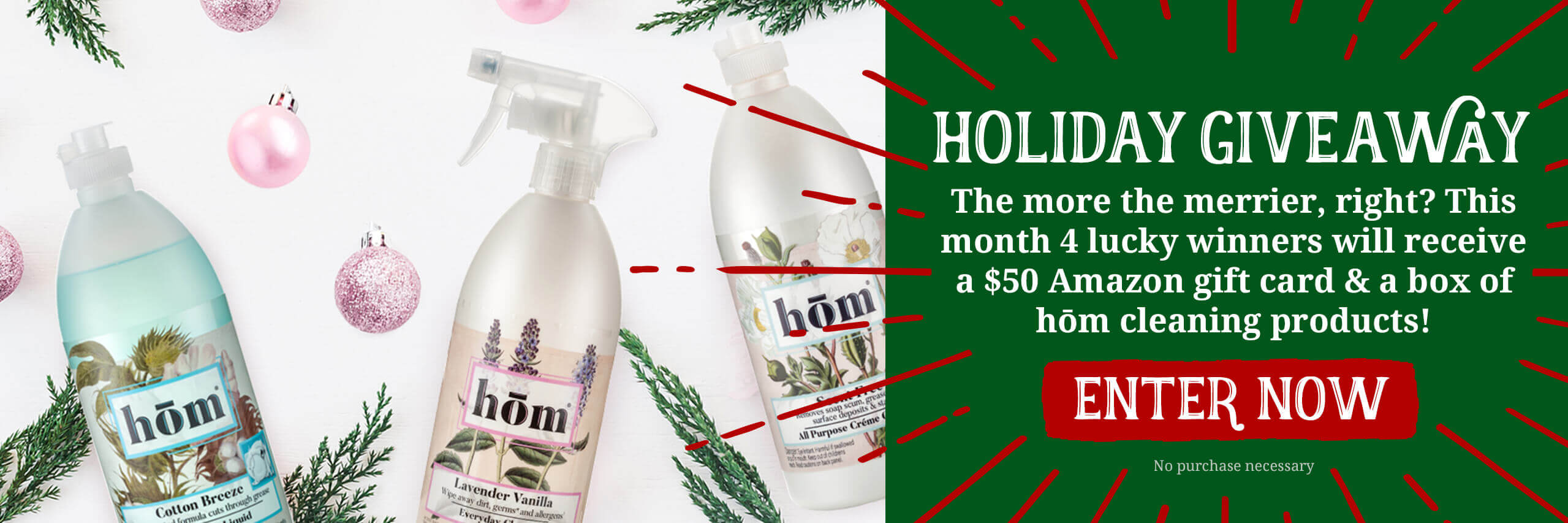 Holiday Giveaway. Click to Enter A Chance to win Amazon Gift Card and hom products.